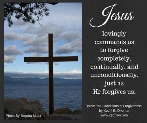 Blog - Begona -Conditions of Forgiveness Jan 15, 2016