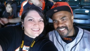 Giants Game Alan and me 2 June 2014