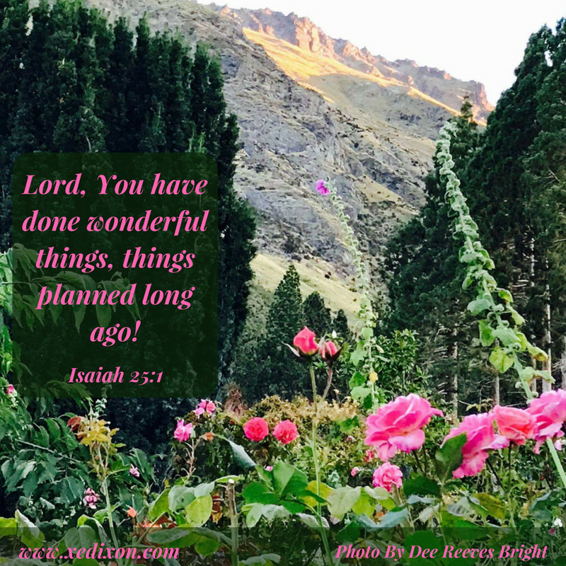 MEME - Isaiah 25 v 1 - Photo by Dee Reeves Bright