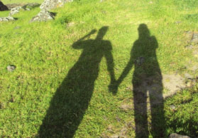 Shadows holding hands by Lindsie Nicole West - adobe edited